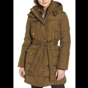 Jcrew long puffer jacket